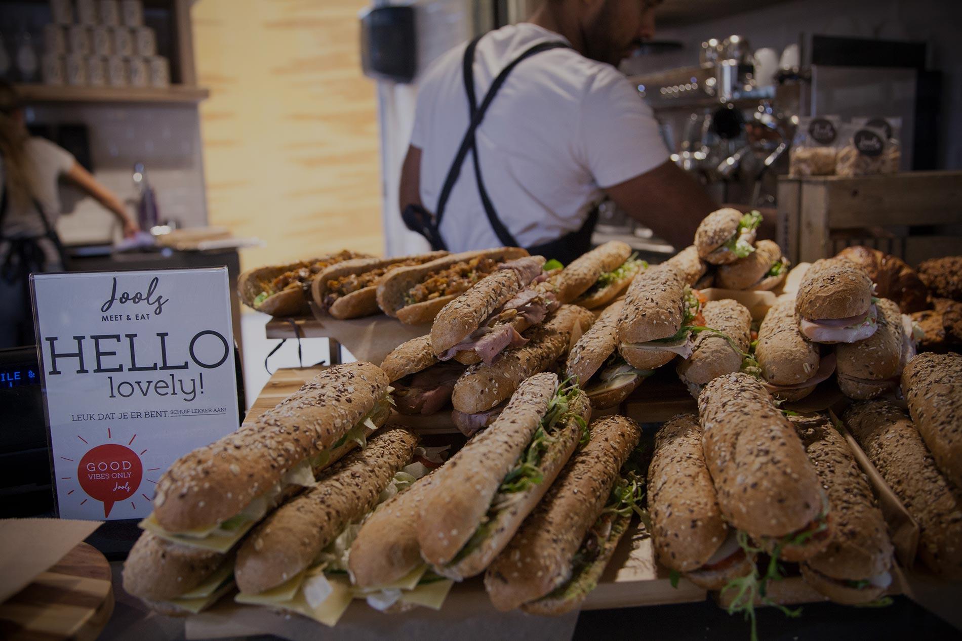 Jools Meet & Eat serveert verse broodjes voor jouw zakelijke lunch